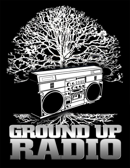 ground black Ground Up Radio Logo Design