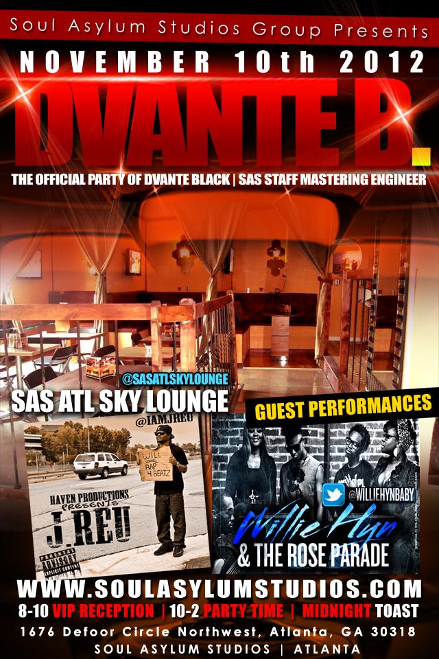 D BLACK FLYER BACK Soul Asylum Studios [Atlanta,GA]   4x6 Print/Digi Flyer