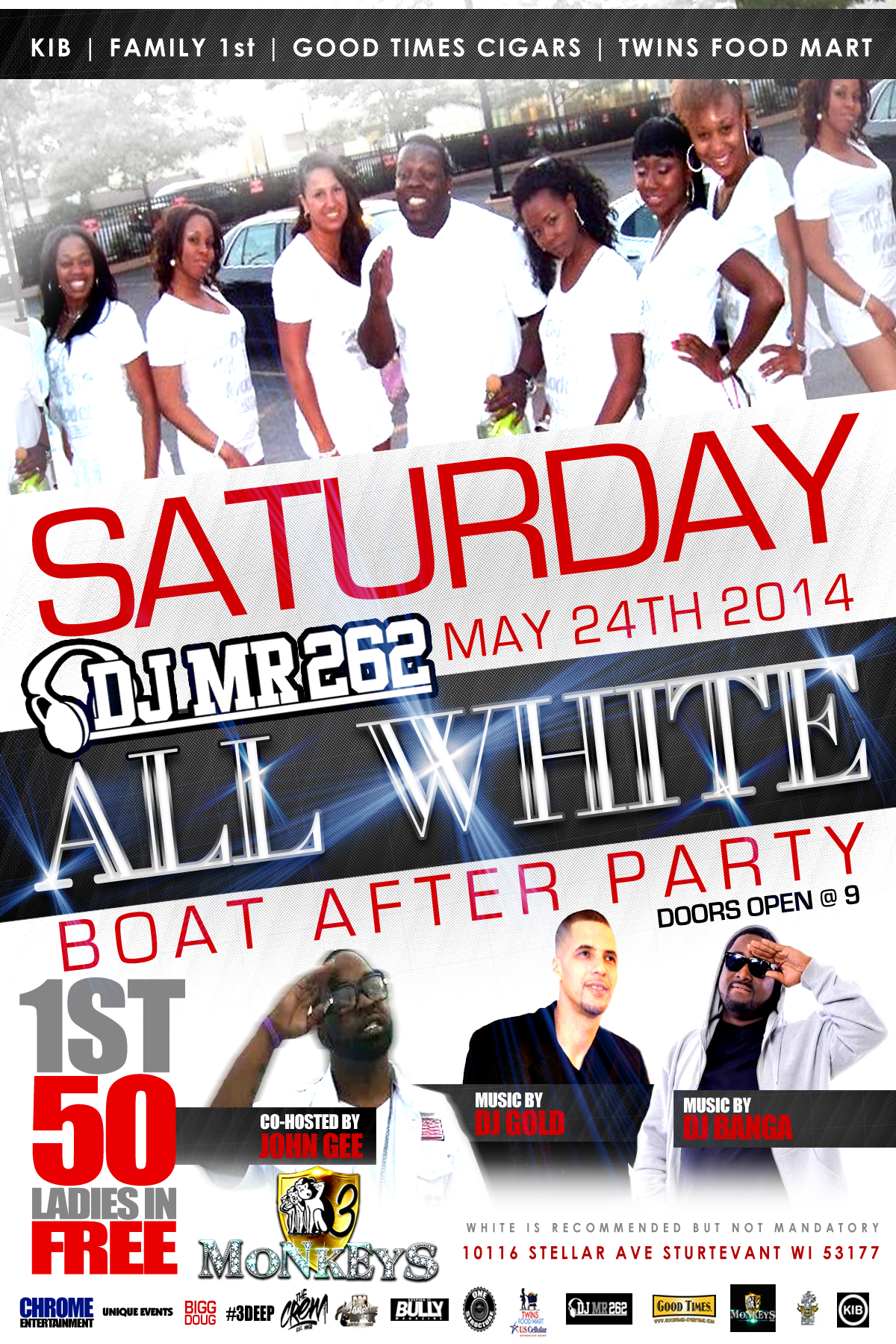 2014 boat after party DJ Mr. 262   All White Boat After Party