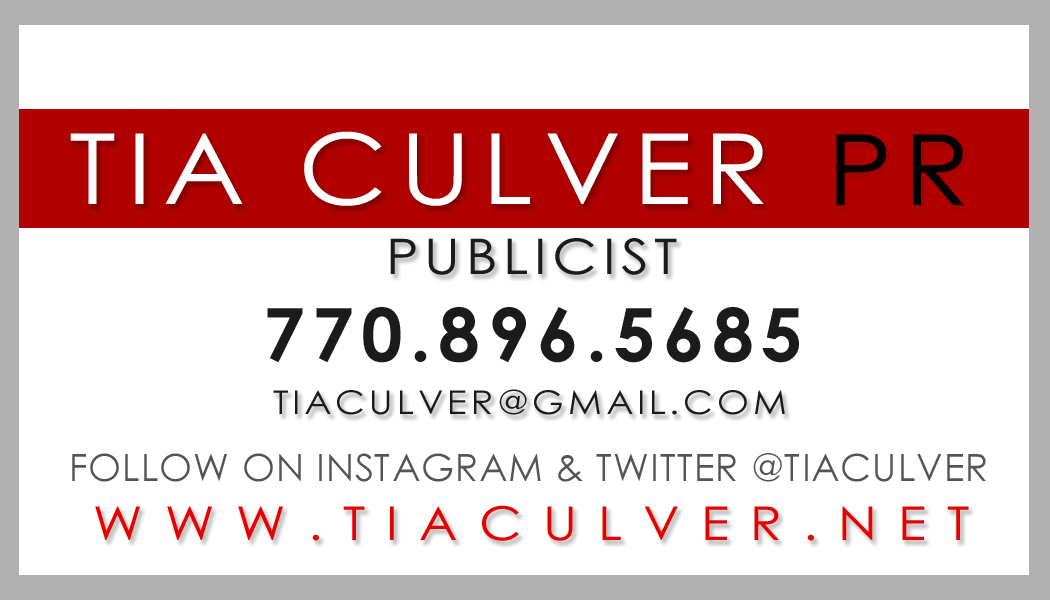 TIA BACK Tia Culver PR Business Card [Atlanta PR]