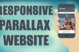 Responsive HTMLCSS Parallax Website From Scratch 270x180 I Study